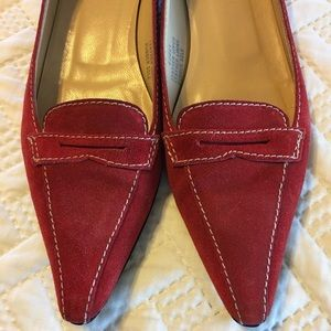 J Crew suede burnt orange flats